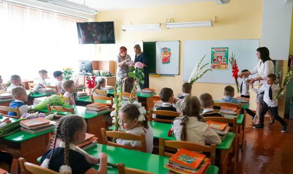 День знаний в Рижской средней школе №88