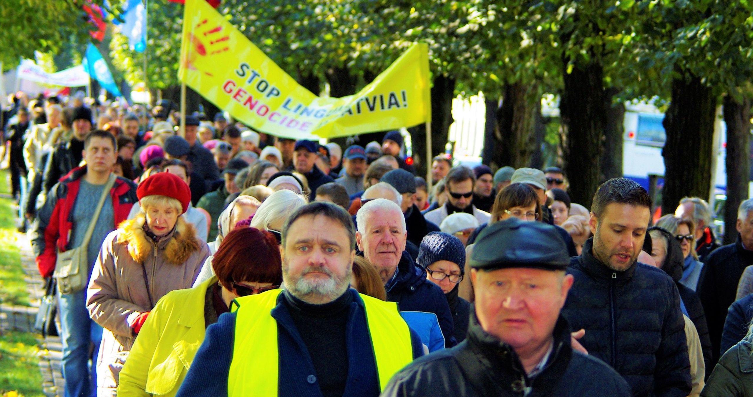 Шествие в защиту русскоязычного образования в Риге
