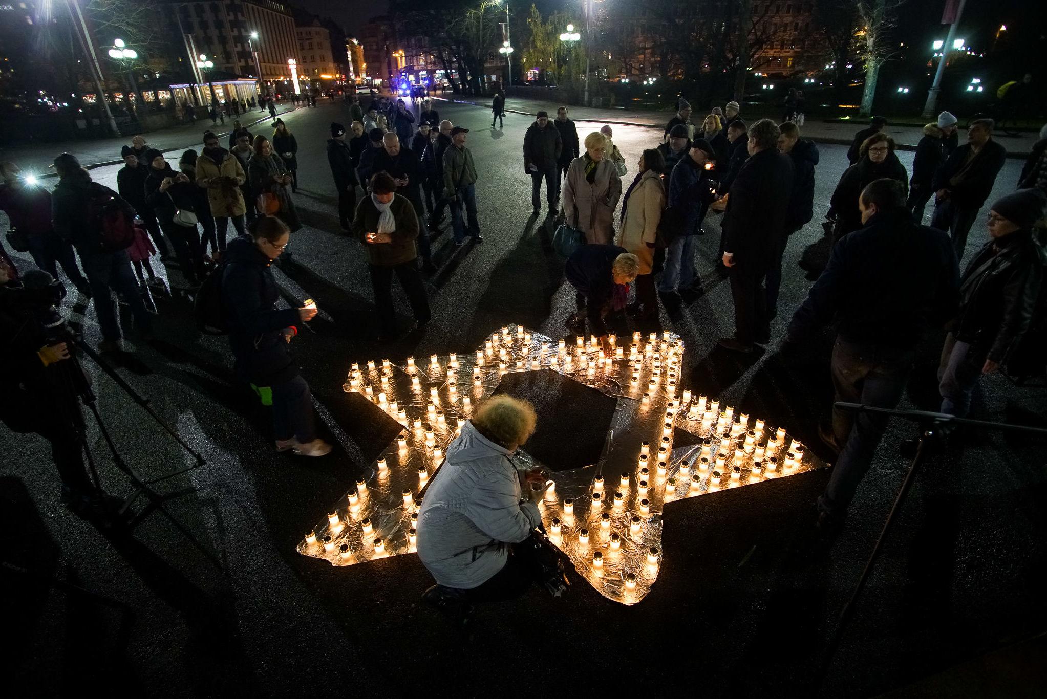 Мероприятие, посвященное годовщину Хрустальной ночи, Рига, 9 ноября 2019