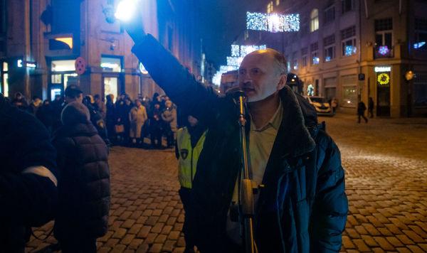 Мирослав Митрофанов на акции протеста