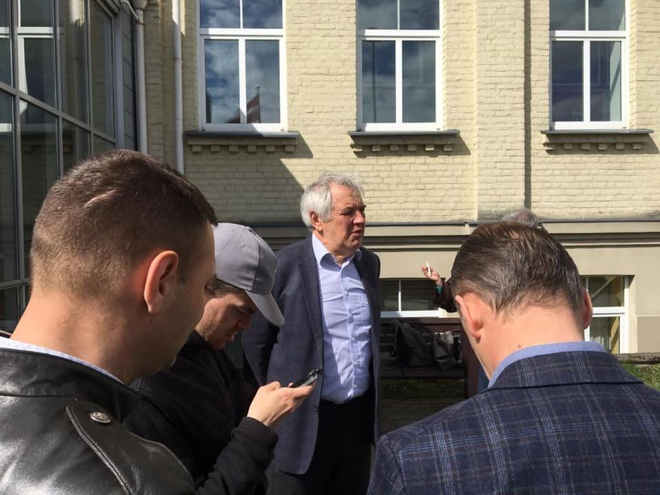 Александр Гапоненко в день судебного заседания. Рига, 2020.