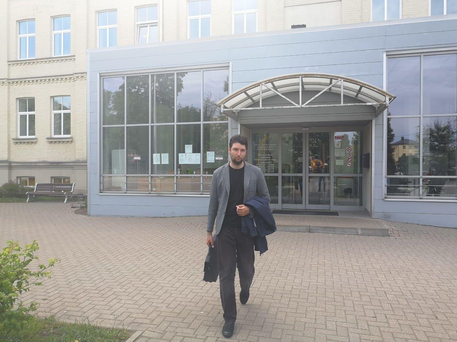 Александр Филей в день судебного заседания. Рига, 2020.
