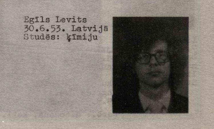 Фотография Эгилса Левитса из Snīpis, Nr.18 от 09 июня 1973 года
