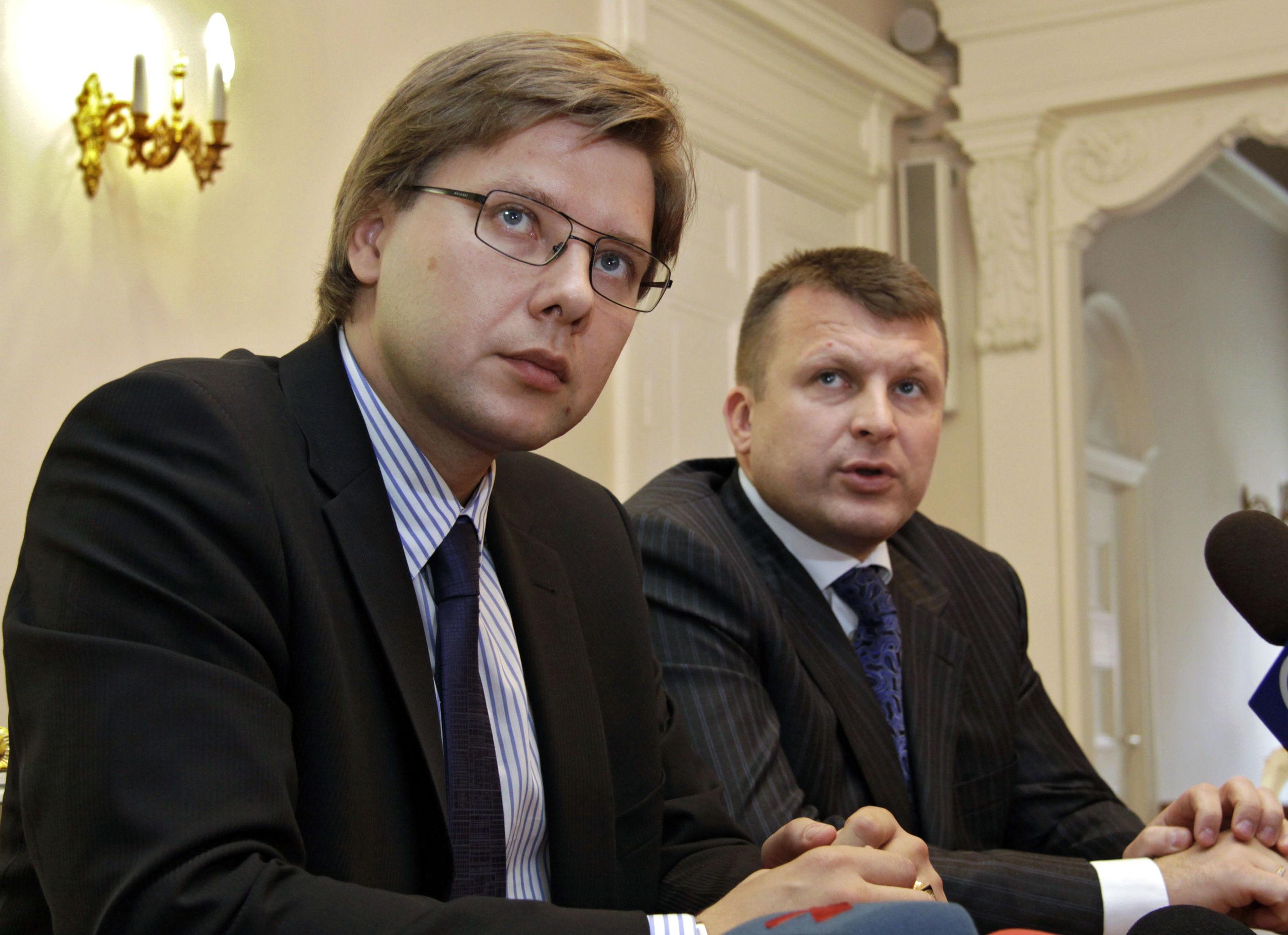 """Председатель объединения """"Центр согласия"""" Нил Ушаков утвержден на должность мэра Риги, 2009"""
