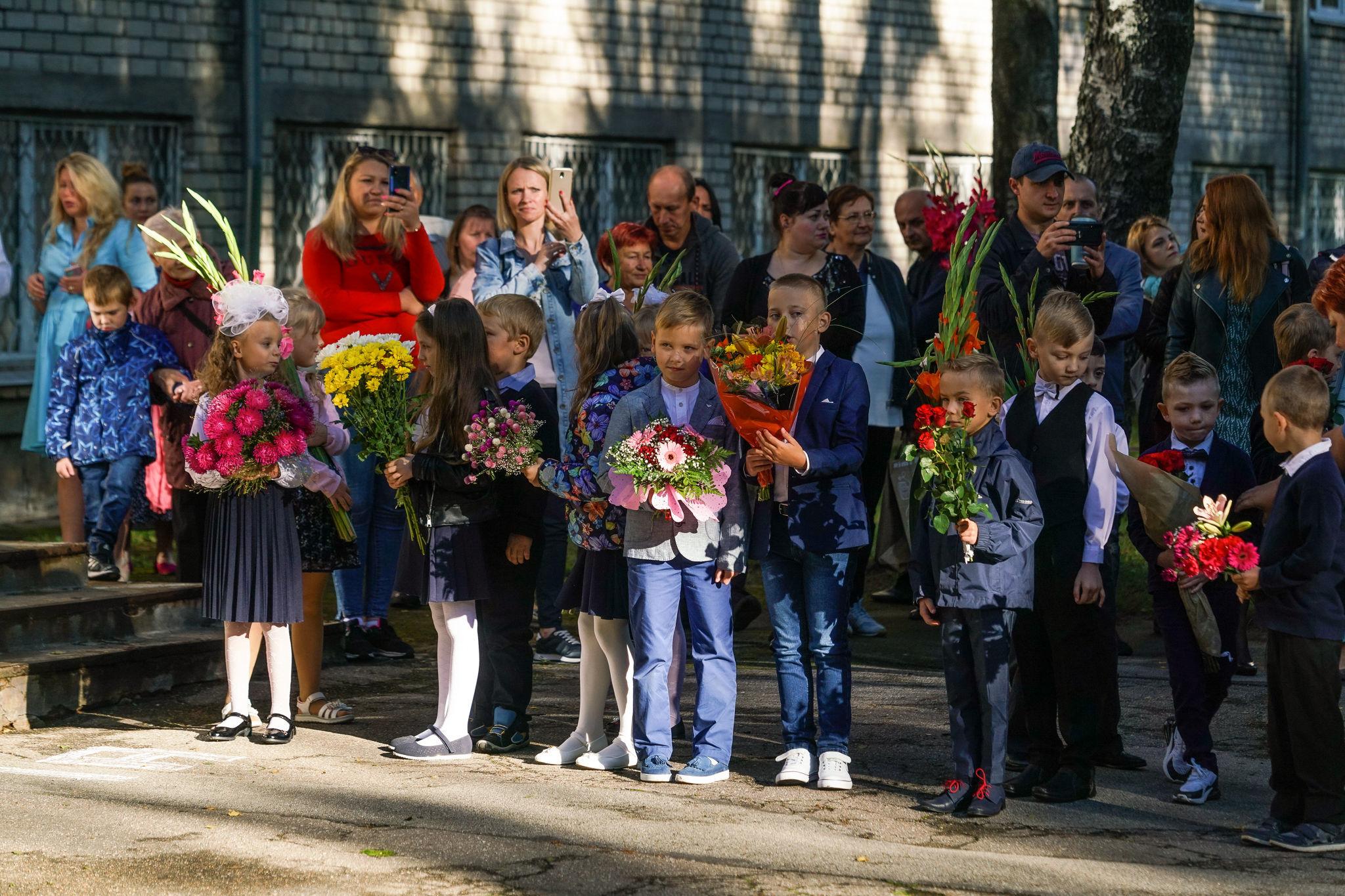 1 сентября в рижской средней школе №63