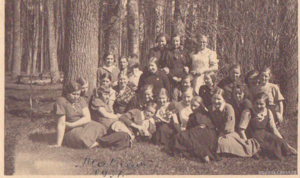 """Члены организации """"Ястребы Даугавы"""", 1937"""