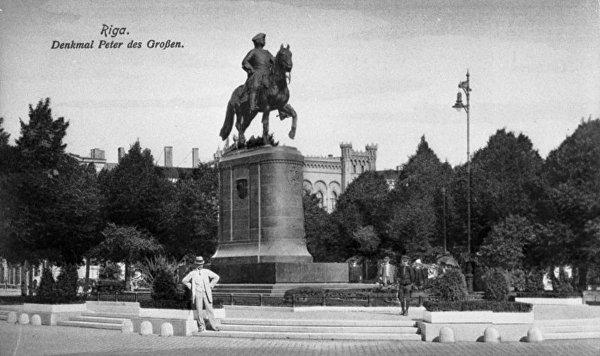 Памятник Петру I в Риге, 1910 год
