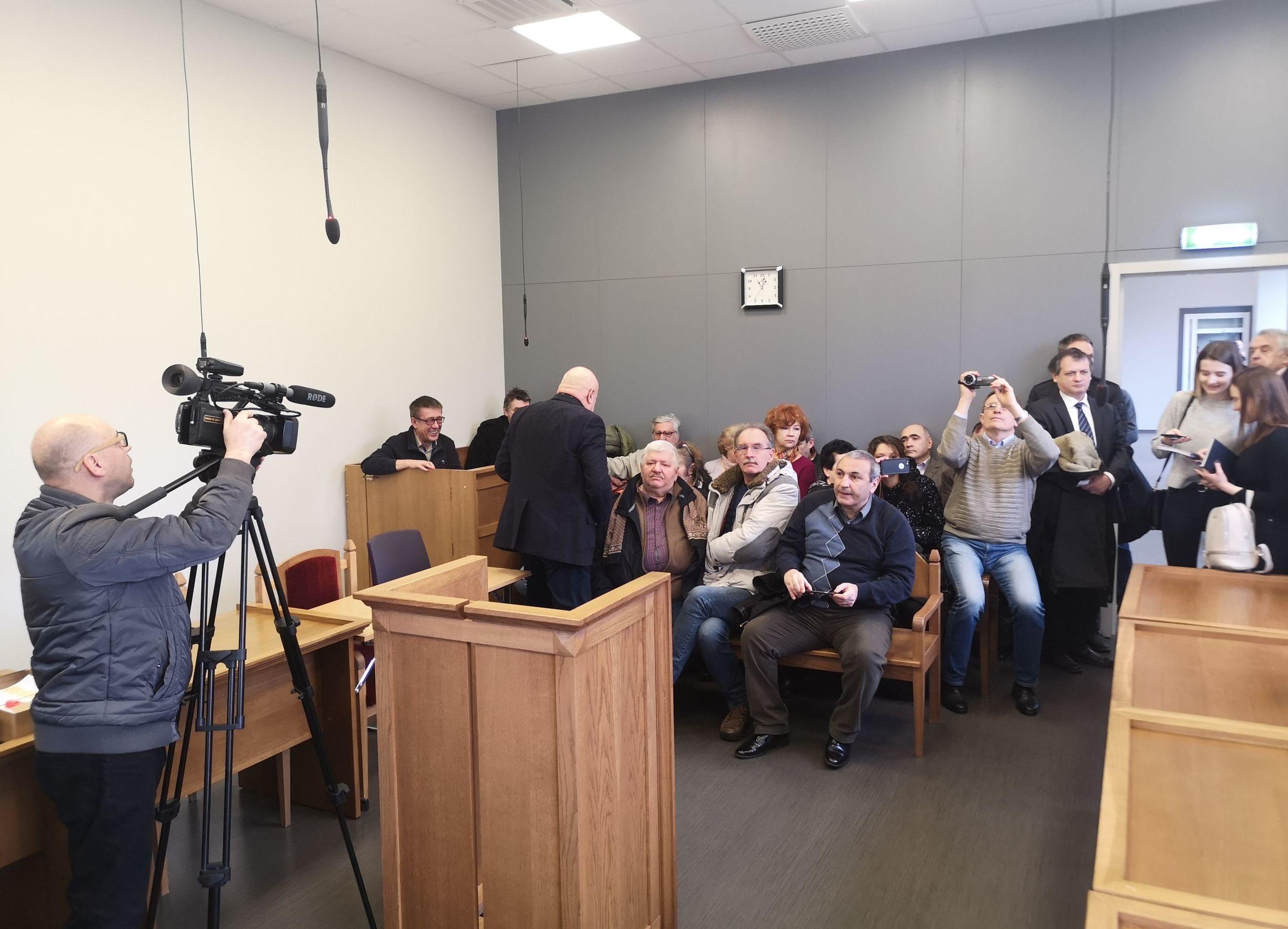 Суд по делу журналиста Юрия Алексеева в Риге, 25 февраля 2020